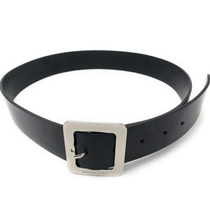 Michael Kors Black Belt With Silver Tone